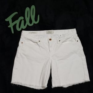 LUCKY BRAND white laguna denim shorts